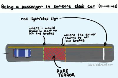 Der Bremsen-Terror als Beifahrer