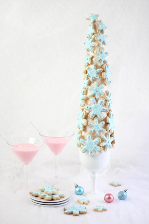 Snowflake Sugar Cookie Tree For The Etsy Blog Sprinkle Bakes