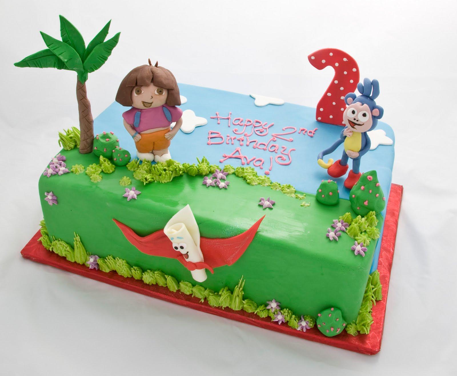 The Crimson Cake Blog: Dora and Boots Cake
