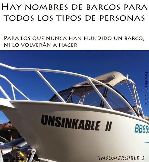 Tipos de barco - Insumergible 2