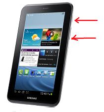 Cara screenshot di Samsung Galaxy Tab 2 7 Dengan Dua Pilihan