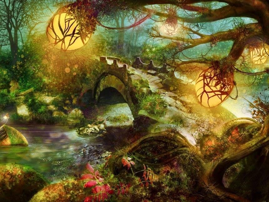Il rifugio degli elfi gli elfi nell 39 arte for Paesaggi fantasy immagini