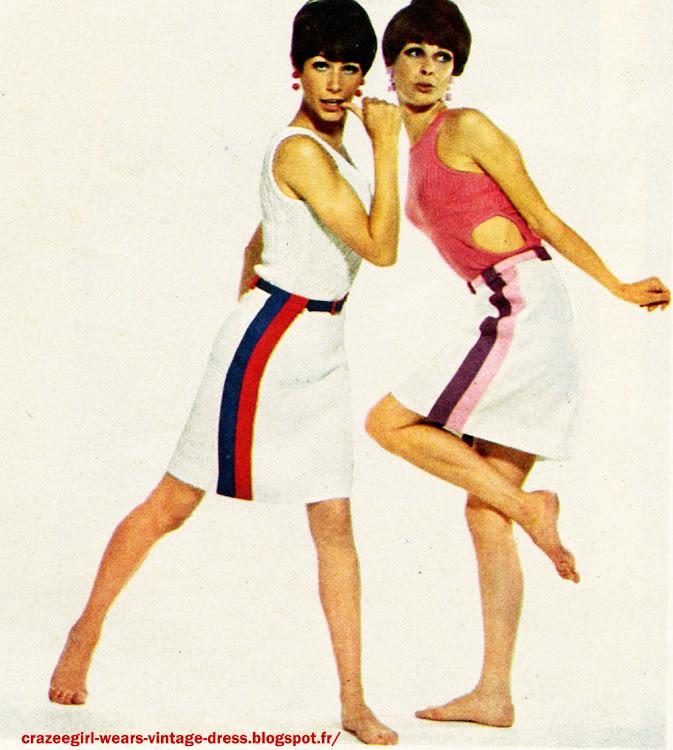 Inno France striped skirt 1960 60s 1966 stripe