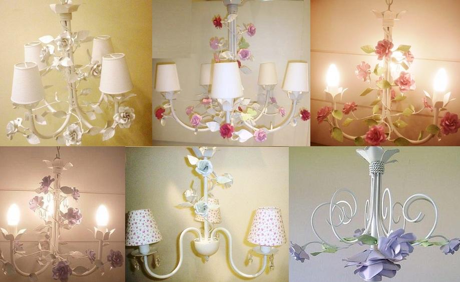 Lustre Artesanal ~ Luminárias infantil, decoraç u00e3o provençal, Lustre infantil , lustre artesanal Lustre Artesanal