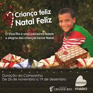 Shopping Grande Rio e VivaRio promovem campanha 'Natal Feliz, Criança Feliz'