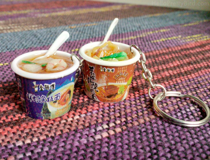 Jillicious Charms and Accessories instant noodles keychains