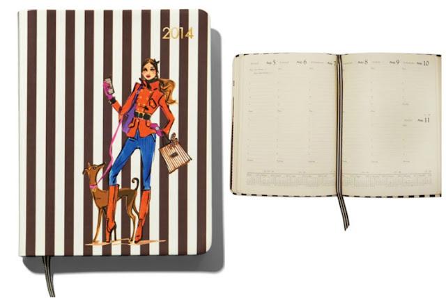 chic henri bendel personal desk calendar