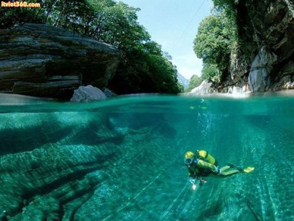 The Verzasca River, Swiss Alps