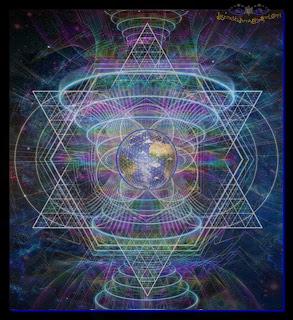 Święta geometria - Ziemia - Kwiat Życia - Merkaba