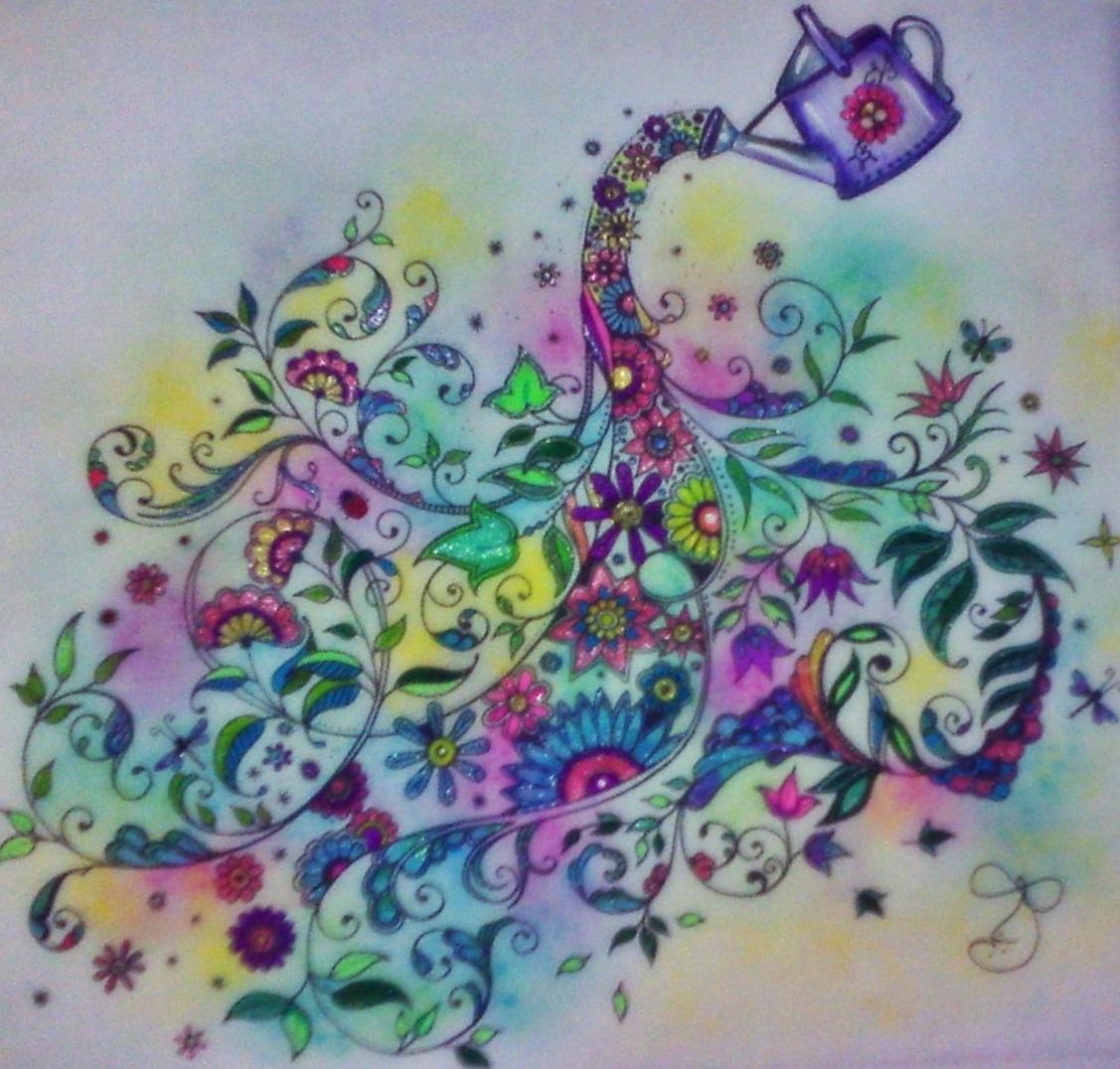 imagens para colorir jardim - Desenhos para Colorir além do Jardim Secreto The