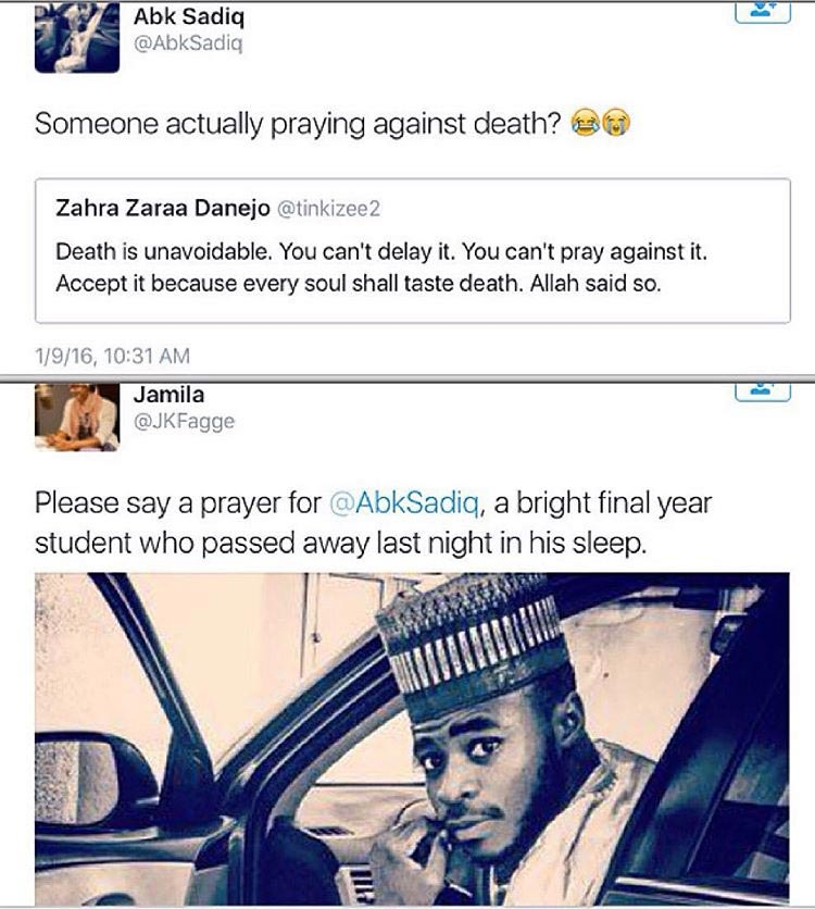 Oh My! This Student Tweeted About Death Few Hours Before He Mysteriously Died (Screenshots)