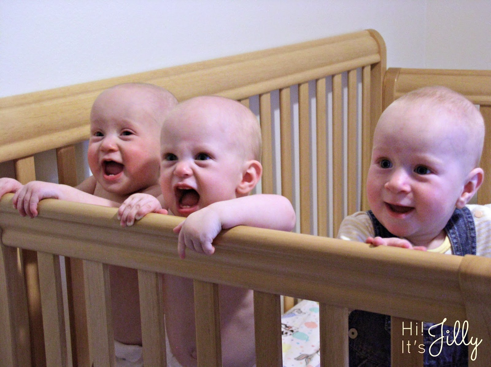 Crib for triplet babies -  What S It Like To Have Triplets Hi
