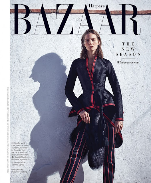 Fashion Model @ Karolin Wolter by Nathaniel Goldberg for Harper's Bazaar US, September 2015