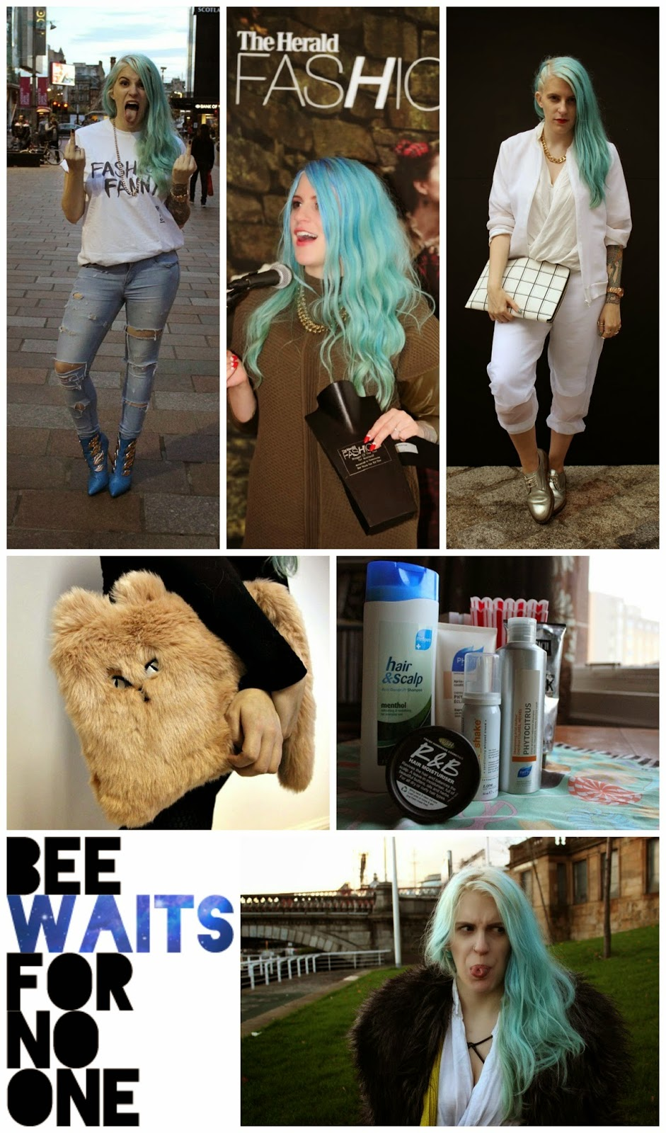Blog crush, blogger crushes, favourite bloggers, Bee Waits For No One, Bee Waits, Blue Hair, Scottish blogger