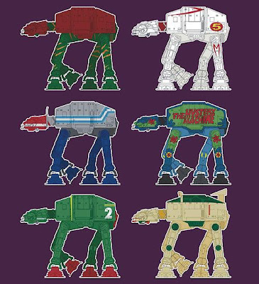 AT-AT Pop Culture Inspired Star Wars T-Shirts By SevenHundred - He-Man and the Masters of the Universe, Speed Racer, Transformers, Scooby Doo, Thunderbirds & Teenage Mutant Ninja Turtles