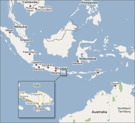 Bali location on the indonesia map indonesia attractions bali map gumiabroncs Choice Image