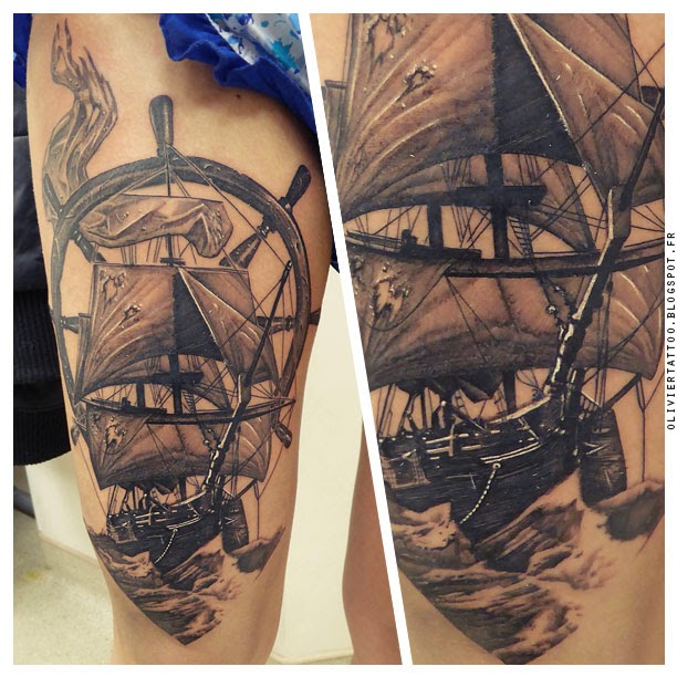 olivier-poinsignon-tatouage-realistes-navire-ship-amazing-tattoo