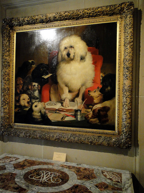 Oil painting by Sir Edwin Landseer, Trial by Jury having in Chatsworth