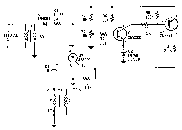 simple capacitor discharge high voltage generator circuit diagram