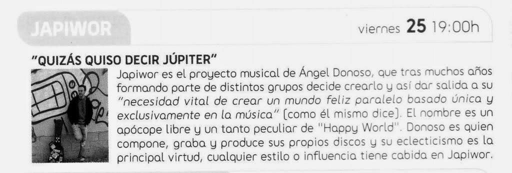 __/01/2008 Revista AGENDA FNAC PLAZA NORTE San Sebastián de los Reyes (Madrid)