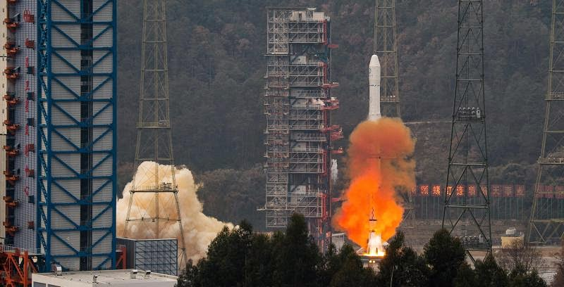 The launch of Fengyun-II 08 satellite on Dec. 31, 2014. Credit: news.cn
