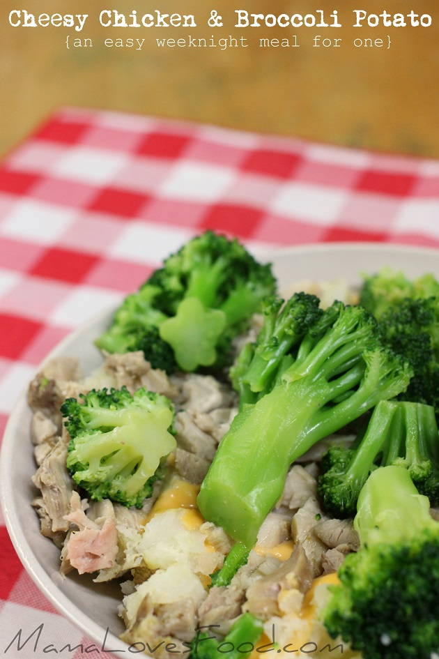 Cheesy Chicken and Broccoli Baked Potato