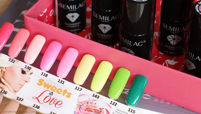 semilac wzornik sweets love paleta kolorów