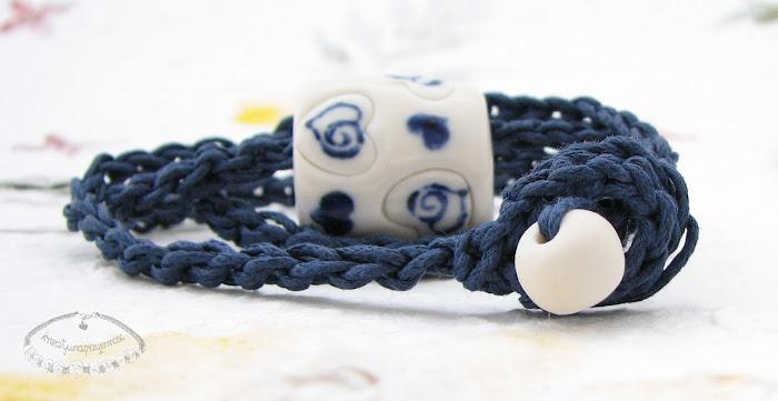Naszyjnik z porcelanowym koralem 2