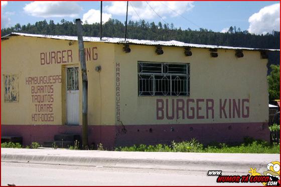 Você convida sua namorada para ir ao Burger King...