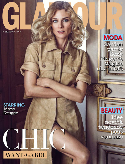 Actress, Fashion Model @ Diane Kruger by Signe Vilstrup for Glamour Italia August 2015