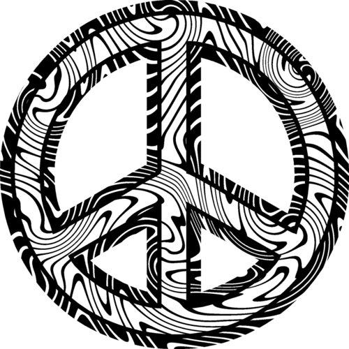 heart peace sign coloring pages - photo#32