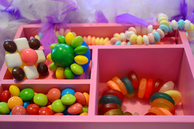 candy jewelry box gumball and Skittles ring