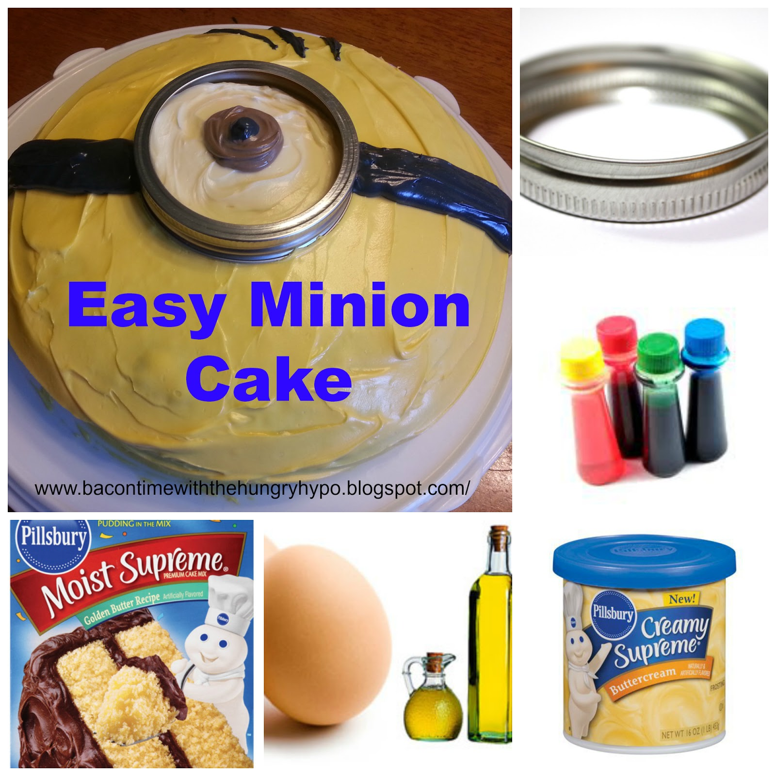 Easy Minion Cake Images : Bacon Time With The Hungry Hypo: Easy Minion Cake and ...