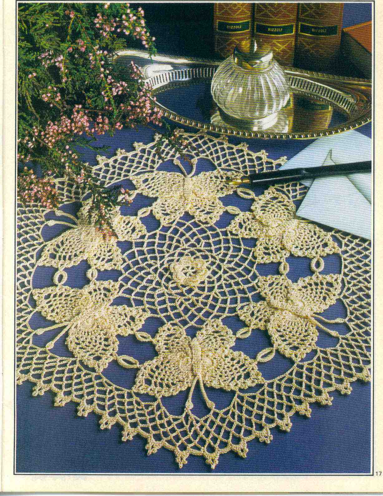 Free Crochet Patterns For Butterfly Doilies : The Rose Doily Doilies Pinterest Doilies, Roses and ...