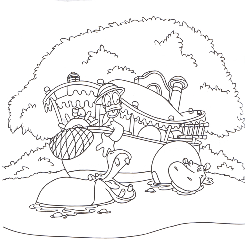 magic kingdom coloring pages - photo#22