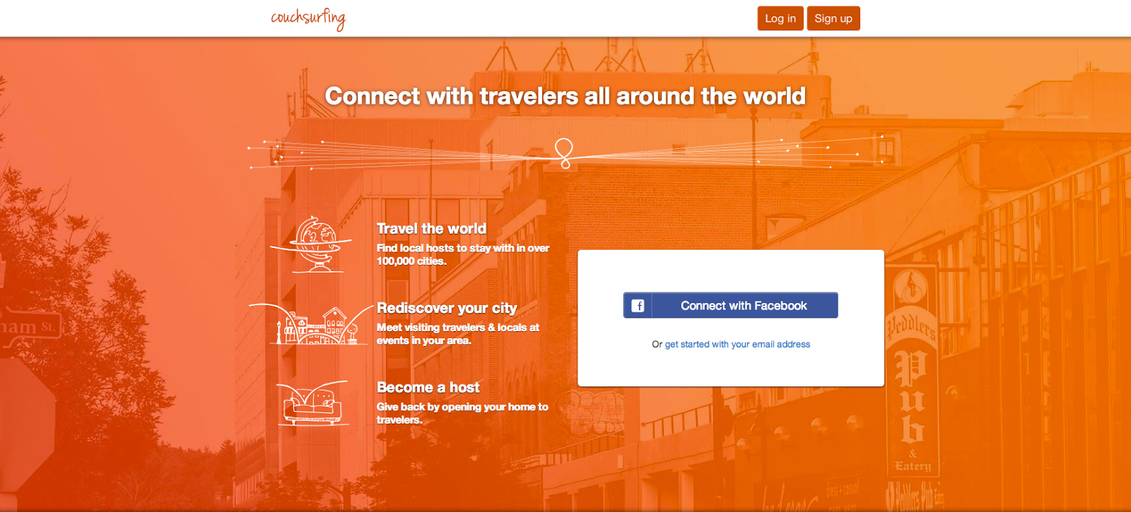 What is couchsurfing