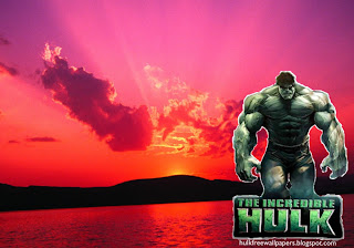 The Incredible Hulk Desktop Wallpaper Hulk The Movie at Sunset Landscape Desktop wallpaper