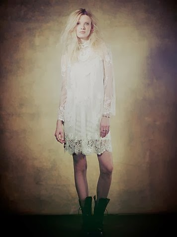 Ethereal Lace Free People Dress - Affordable Short Wedding Dresses - Age Old Youngster