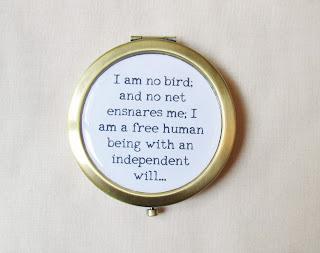 image compact mirror literature domum vindemia jane eyre I am no bird charlotte bronte