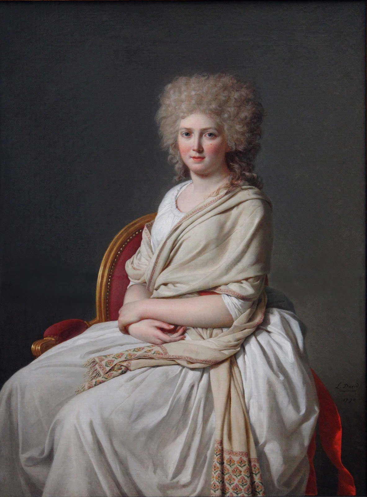 Retrato de Anne-Marie-Louise Thelusson 1790