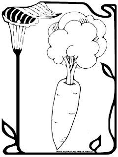 sketsa gambar wortel