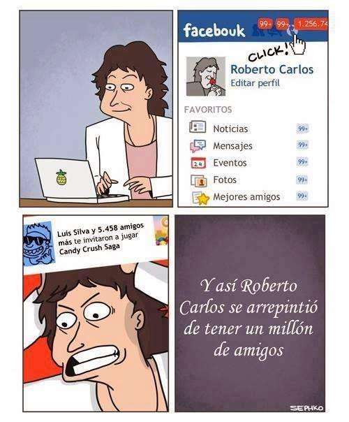 Meme de Humor Roberto Carlos - Un millón de amigos