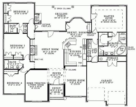 Planos de casas modelos y dise os de casas planos de for Planos de casas de tres dormitorios en una planta