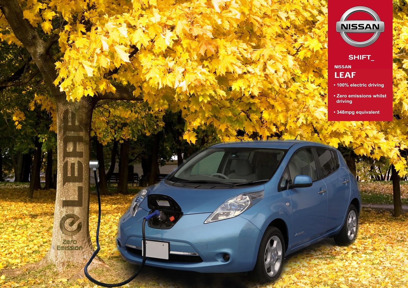 Nissan Leaf 100 Electric Car Advertisement Ycn Project