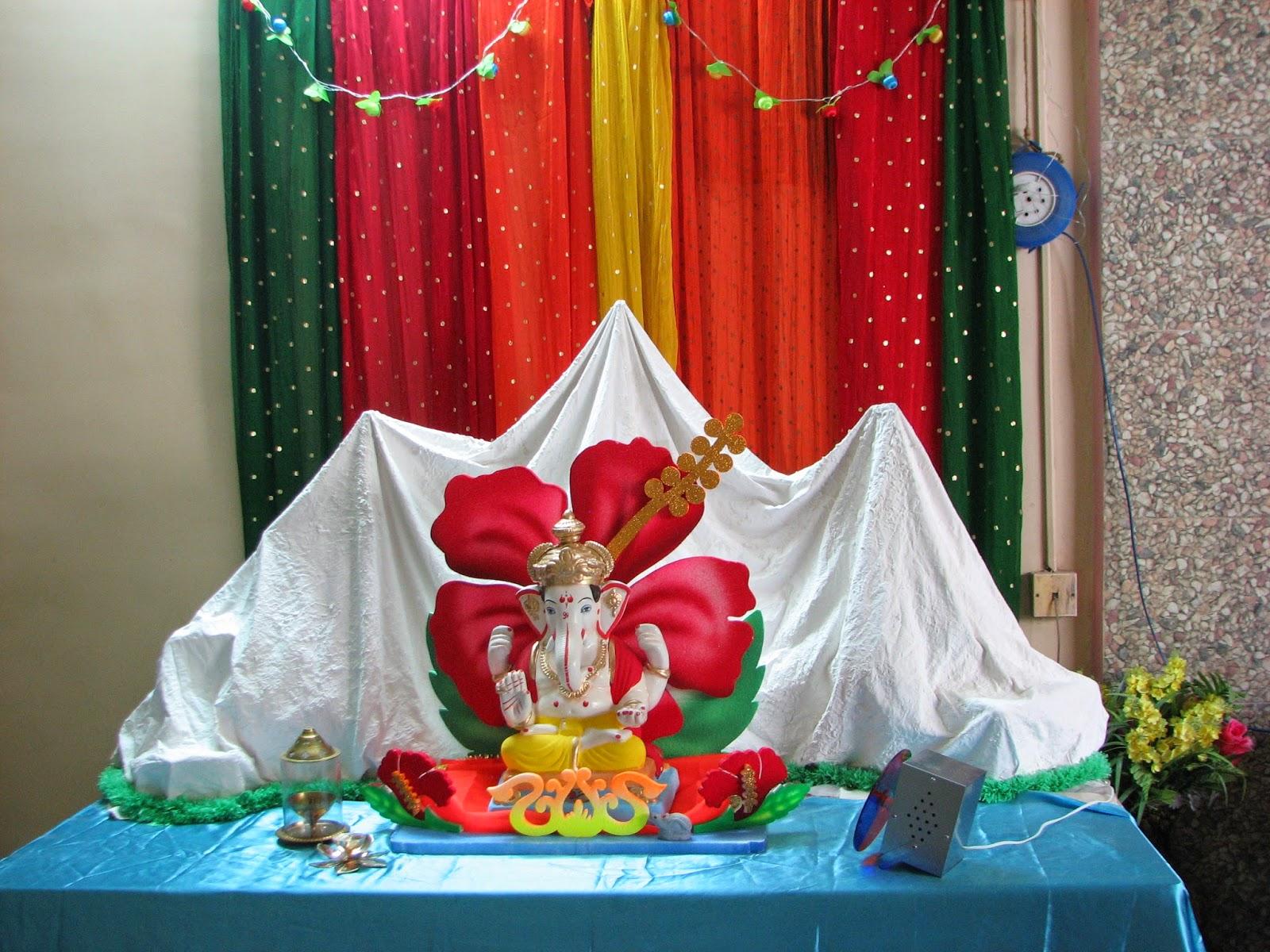 ganapati decorations himalaya from plaster of paris pop in ganesh