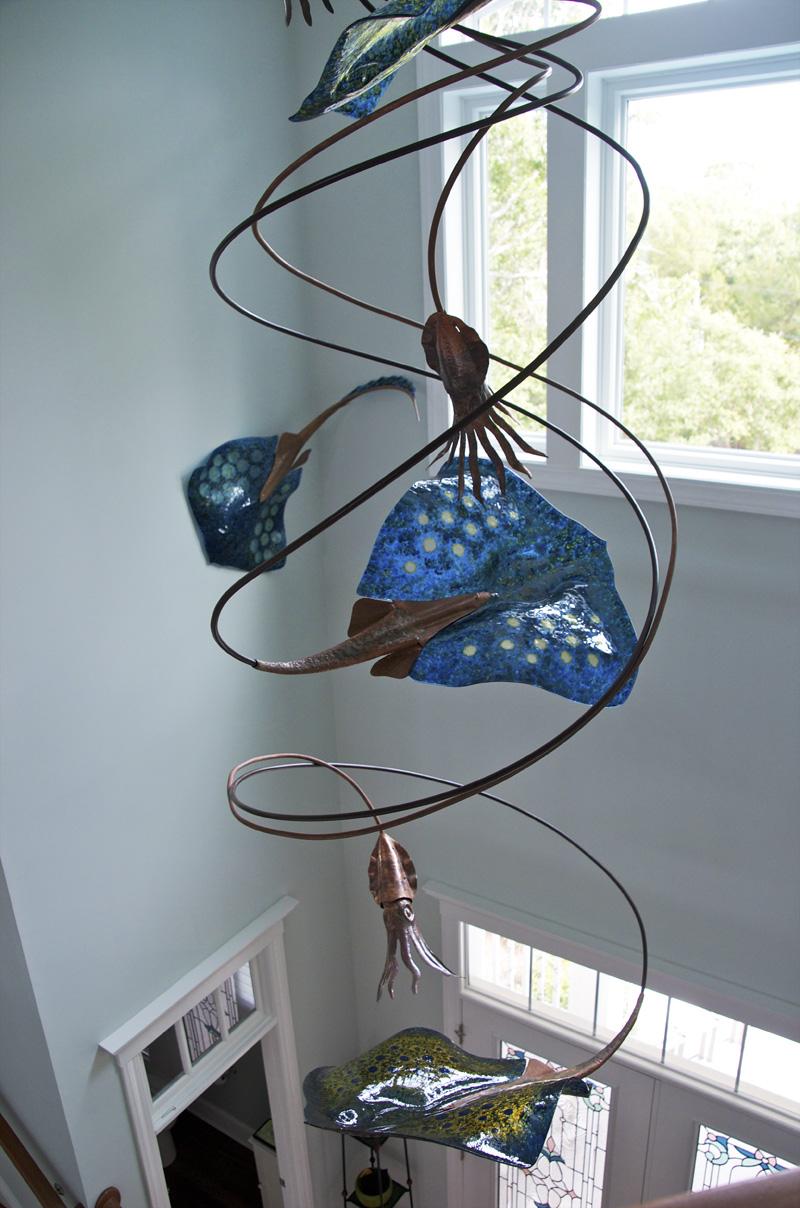Art Glass Foyer Light : Stan harmon glass art sculpture june