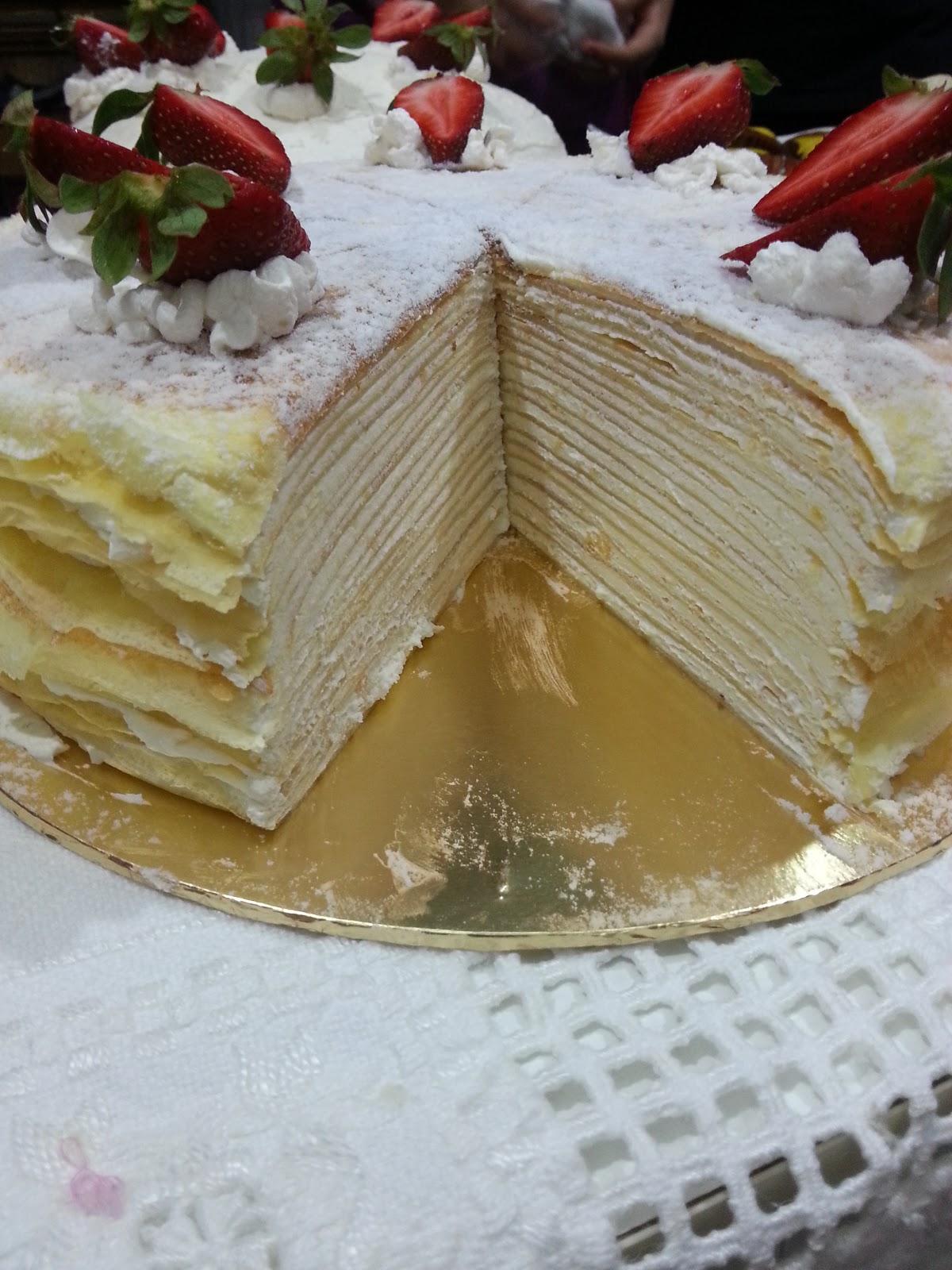 Sweet Cravings: Valrhona Vanilla Mille Crepe Cake