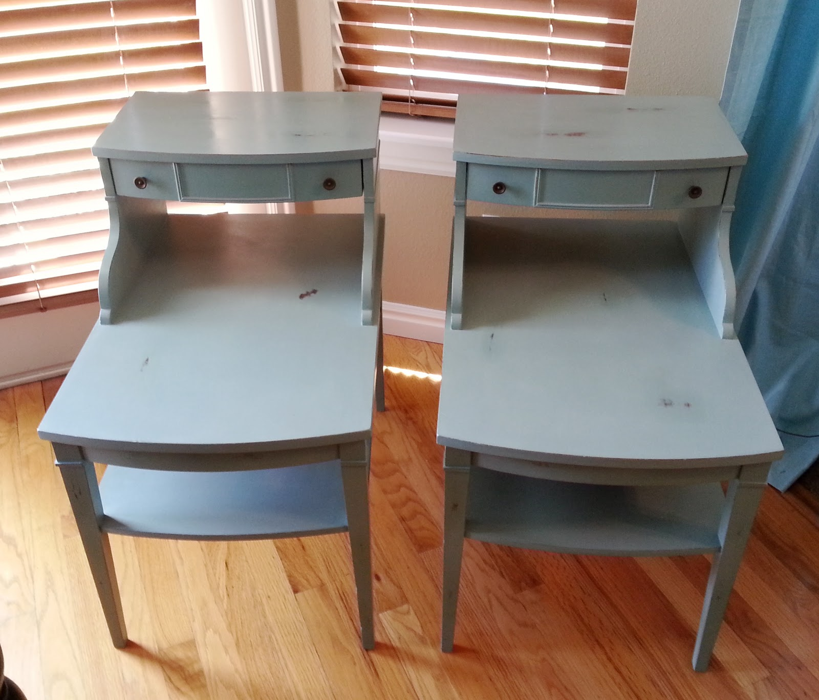Halliday Happenings Mersman 7384 End tables Refinished