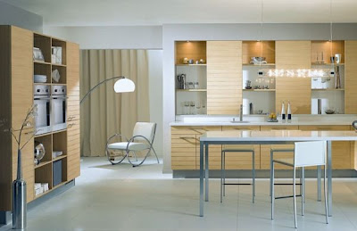 contemporary kitchen design in earth tone colors