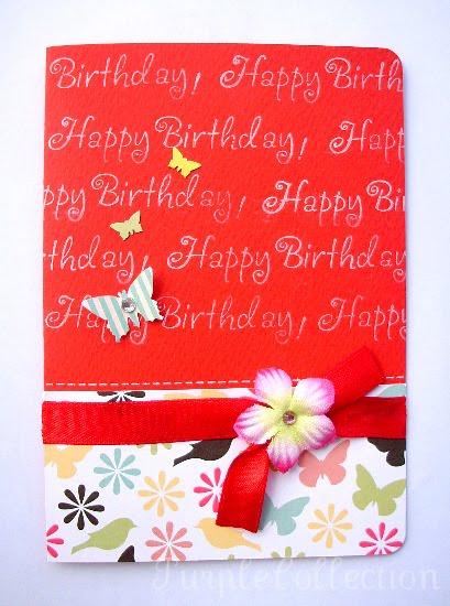 Birthday Card, red birthday card